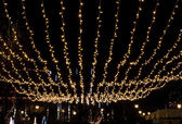 Christmas Lights in the air — Stock Photo