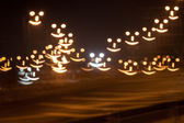 Smiley face bokeh — Stock Photo