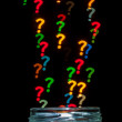 Question mark shaped bokeh — Stock Photo #67246253