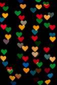Heart shape bokeh — Stock Photo