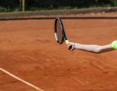 Tennis forehand — Stock Photo