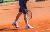 Return a tennis serve — ストック写真