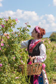 Girl posing during the Rose picking festival in Bulgaria — Stock Photo