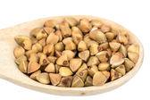 Buckwheat in a spoon — Stock Photo