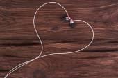 Srdce ze sluchátek — Stock fotografie