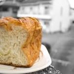 Постер, плакат: Morning bread: Japanese premium bun long squre Danish bread mild