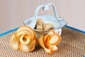 Flowers cookies on a napkin — Foto Stock
