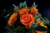 Orange wedding colourful bouquet of flowers — Zdjęcie stockowe