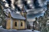 Silence of beautiful mountain Calvary in Slovakia — Stock Photo
