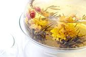 Silver needle tea jasmine detail — Stock Photo