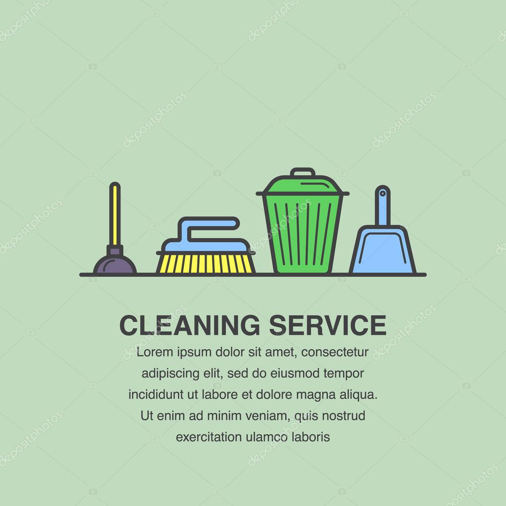 banner design for cleaning service advertisement stock vector banner design for cleaning service advertisement stock illustration
