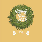 New Year card — Vettoriale Stock