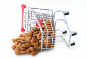 Tilted Shopping Cart — Stock Photo