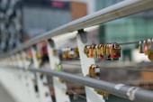 Padlocks on Wires — Stock Photo