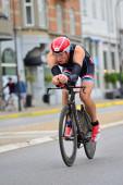 Ironman байкеров в гонке — Стоковое фото