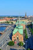 здания каналами копенгагена — Стоковое фото