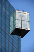 Architectural Detail on Glass Building — Stock Photo
