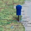 Map with pin in - of Dublin, Great Britain — Stock Photo #70759031