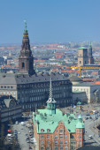 Cityscape view from the Church Tower of Our Saviour's Church — Stock Photo