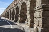 The Ancient, Roman aqueduct in Segovia, Spain — ストック写真