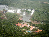 Aerial View Of Iguazzu Falls And Hotel — Stockfoto