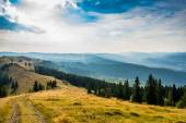 Sunset in the Carpathian mountains — Stock fotografie