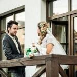 Wedding couple outdoor — Stock Photo #57452251