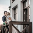 Wedding couple outdoor — Stock Photo #57453315