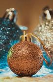 Christmas decoration on warm background — Stock Photo