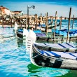 Gondolas at the  Piazza San Marco, Venice — Stock Photo #58851217