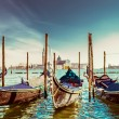 Gondolas at the  Piazza San Marco, Venice — Stock Photo #58851283