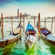 Gondolas at the  Piazza San Marco, Venice — Stock Photo #58851375