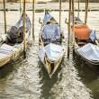 Gondolas at the  Piazza San Marco, Venice — Stock Photo #59010643