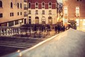 Urban scenes: shadow of walking motion — Stock Photo