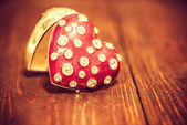 Decoration with red vintage heart  — Fotografia Stock
