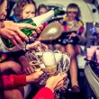 Hen-party with champagne — Stock Photo #62353219