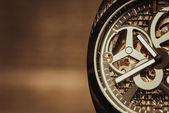 Macro shot of watch mevement — Stock Photo