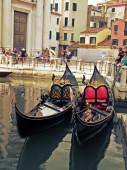 Venezia gondola reale — Stock Photo