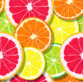 Slices of citrus fruits pattern — Vecteur