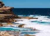 Rock Pool at Maroubra beach — Stock Photo