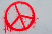 Peace symbol on wall — Stock Photo