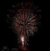 Fireworks against dark sky — Stock Photo
