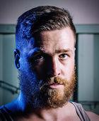 Handsome man  with beard — Stock Photo