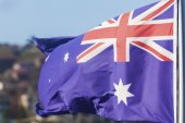 The Australian flags — Stock Photo