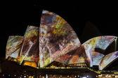 Sydney opera house on vivid festival — Stock Photo