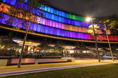 Luminous Display in Darling Harbour — Stock Photo