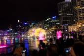 Darling Harbour during Sydney vivid festival — Stock Photo