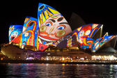 Sydney Opera House at the Vivid festival — Foto de Stock