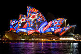 Sydney Opera House at the Vivid festival — Stock Photo