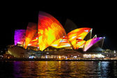 Sydney Opera House at the Vivid festival — Stock Photo